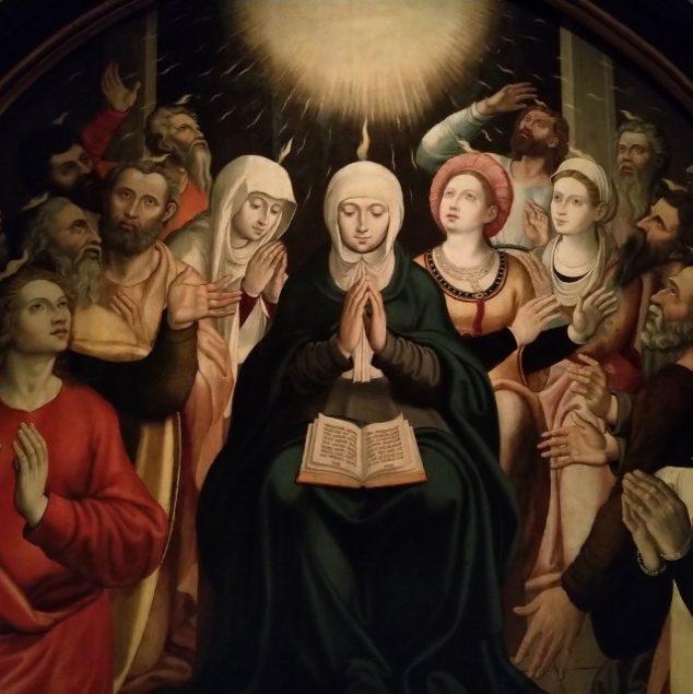 Pentecostes. Pintura a óleo sobre madeira. Século XVI.