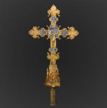 Cruz processional em prata dourada. Século XIV.