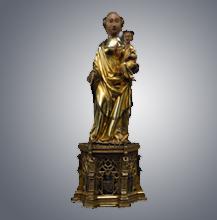 Santa Maria de Guimarães. Imagem em prata dourada e esmalte. Século XIV.