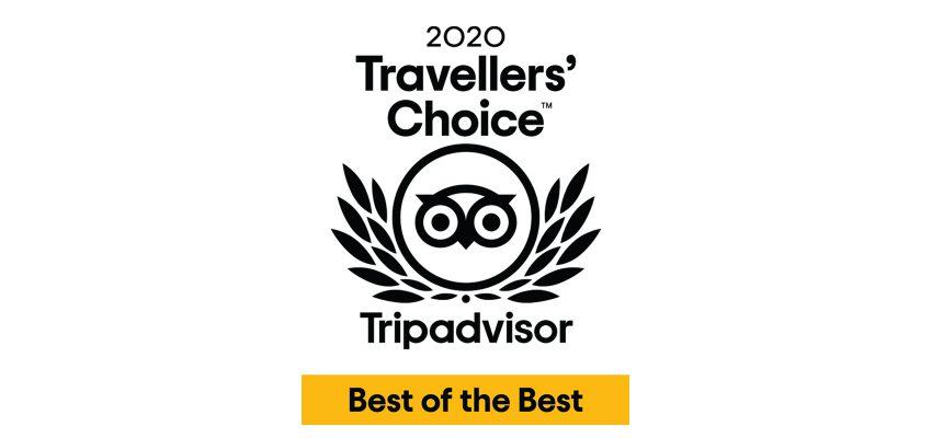 Distinção Tripadvisor - Traveller's Choice