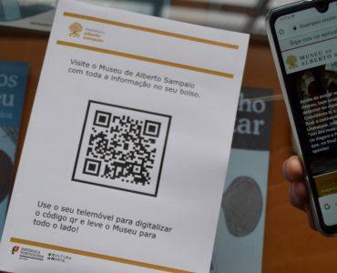 Fotografia do Código QR do Museu