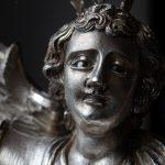 Rosto. Pormenor da escultura em prata 'Arcanjo São Miguel'. Século XIX.