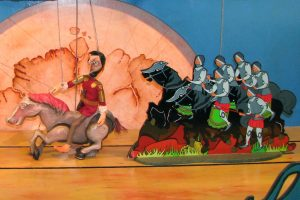 Imagem de marionetas do teatro Afonso Henriques, um Rei a Valer