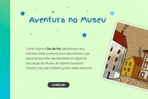 Imagem inicial do jogo que explora a presença da figura paterna nas obras do museu